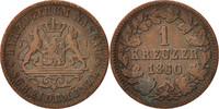 Kreuzer 1860 Wiesbaden Deutsch Staaten Adolph, Wiesbaden, SS, Copper, K... 20,00 EUR  zzgl. 10,00 EUR Versand