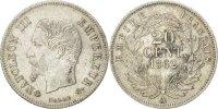 20 Centimes 1862 A France Napoléon III Napoleon III AU(55-58)  550,00 EUR gratis verzending