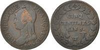 5 Centimes 1798 W Frankreich Dupré VF(30-35)  130,00 EUR