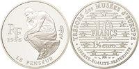 10 Francs-1.5 Euro 1996 Frankreich The Thinker by Auguste Rodin MS(65-70)  60,00 EUR  zzgl. 10,00 EUR Versand