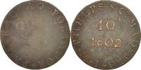 Token 1802 Portugal Madeira, 40 Reis, Copper S  190,00 EUR free shipping