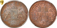 Kreuzer 1871 Deutsch Staaten BADEN, Friedrich I, PCGS, MS66BN, Copper, ... 170,00 EUR kostenloser Versand