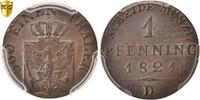 Pfennig 1821 D Deutsch Staaten PRUSSIA, Munich, PCGS MS63BN, KM:405 UNZ  100,00 EUR  zzgl. 10,00 EUR Versand
