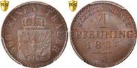 Pfennig 1864 A Deutsch Staaten PRUSSIA, Wilhelm I, PCGS, MS64BN, Copper... 100,00 EUR  zzgl. 10,00 EUR Versand