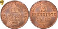 3 Pfennig 1873 A Deutsch Staaten PRUSSIA, Wilhelm I, PCGS, MS66RB, Copp... 150,00 EUR kostenloser Versand