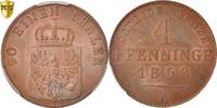 4 Pfennig 1858 A Deutsch Staaten PRUSSIA, Berlin, PCGS MS66RB, KM:454a ... 220,00 EUR kostenloser Versand