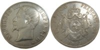 5 Francs 1855 BB France Napoléon III Napoleon III VF(30-35)  140,00 EUR  +  10,00 EUR shipping