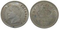 20 Centimes 1868 BB France Napoléon III Napoleon III AU(50-53)  90,00 EUR  Excl. 10,00 EUR Verzending