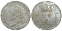 1/4 Franc 1819 A France Louis XVIII Louis XVIII MS(60-62)  230,00 EUR free shipping