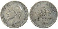 50 Centimes 1864 BB France Napoléon III Napoleon III EF(40-45)  5095 руб 75,00 EUR  +  679 руб shipping