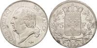 5 Francs 1822 W France Louis XVIII, Lille, Silver, KM:711.13 VZ  220,00 EUR Gratis verzending