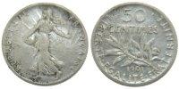 50 Centimes 1901 France Semeuse AU(50-53)  60,00 EUR  Excl. 10,00 EUR Verzending