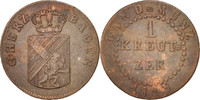 Kreuzer 1813 Deutsch Staaten BADEN, Karl Ludwig Friedrich, SS, Copper, ... 110,00 EUR  zzgl. 10,00 EUR Versand