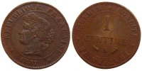 Semi Moderns (1805-1899) 1 Centime 1887 Paris unz- French Moderns Frankr... 60,00 EUR