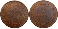 Semi Moderns (1805-1899) 2 Centimes 1884 Paris unz- French Moderns Frank... 60,00 EUR