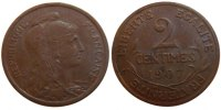 Moderns (1900-1958) 2 Centimes 1907 unz- French Moderns Frankreich III r... 230,00 EUR