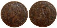 5 Centimes 1862 A France Napoléon III Napoleon III AU(50-53)  55,00 EUR  +  10,00 EUR shipping