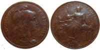 10 Centimes 1921 Paris Frankreich Dupuis AU(55-58)  140,00 EUR