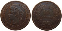 10 Centimes 1871 K France Cérès EF(40-45)  290,00 EUR free shipping