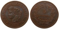 Semi Moderns (1805-1899) 5 Centimes 1886 Paris unz- French Moderns Frank... 129.97 US$