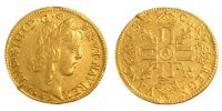 French Royal Louis d'Or Royal French coins Frankreich Knigreichr Louis XIV, Louis d'or  la mche longue Golden