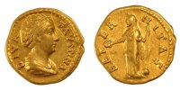 Roman Auréus Coins Roman, Faustina mother, gold Aureus Antike Römische Republik Kaiserzeit Golden