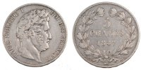 5 Francs 1847 A France Louis-Philippe VF(30-35)  61.81 US$ 55,00 EUR  +  11.24 US$ shipping