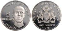 5 Dollars 1976 FM Guyana  MS(60-62)  100,00 EUR  zzgl. 10,00 EUR Versand