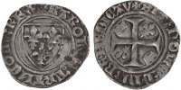 Blanc Guénar Châlons-Sur-Marne France 1380-1422 Charles VI le Fol EF(40... 300,00 EUR free shipping