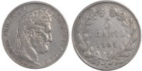 5 Francs 1846 K France Louis-Philippe EF(40-45)  160,00 EUR free shipping