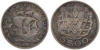 5 Escudos 1932 Portugal  AU(50-53)  150,00 EUR gratis verzending
