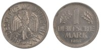 Germany 1 Deutsche Mark 1954 Munich ss+ Foreign Coins Münzen Germany, RF... 80,00 EUR