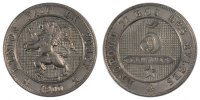 5 Centimes 1900 Belgien Leopold II AU(55-58)  100,00 EUR
