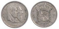 Franc 1880 Belgium 50th Anniversary of Independence Leopold II AU(50-53)  7375 руб 100,00 EUR  +  737 руб shipping