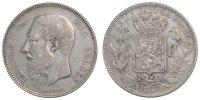 5 Francs, 5 Frank 1867 Belgien Leopold II EF(40-45)  110,00 EUR
