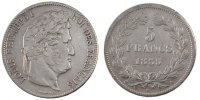 5 Francs 1835 A France Louis-Philippe EF(40-45)  78.67 US$ 70,00 EUR  +  11.24 US$ shipping