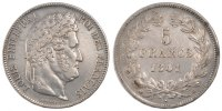 Semi Moderns (1805-1899) 5 Francs 1841 Strasbourg ss French Moderns Fran... 107.12 US$