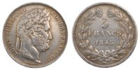 5 Francs 1843 B France Louis-Philippe EF(40-45)  76.05 US$ 70,00 EUR  +  10.86 US$ shipping
