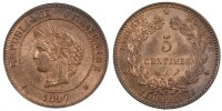 Semi Moderns (1805-1899) 5 Centimes 1897 Paris unz- French Moderns Frank... 60,00 EUR