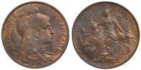 5 Centimes 1903 Paris Frankreich Dupuis AU(55-58)  120,00 EUR  zzgl. 10,00 EUR Versand