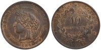 10 Centimes 1888 A France Cérès MS(60-62)  160,00 EUR gratis verzending