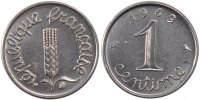Fifth Republic (1959-2001) 1 Centime French Moderns Frankreich Vth Republic, 1 Centime ear