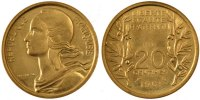 Essais 20 Centimes 1961 PROOF Vth Republic, 20 Centimes essai 180,00 EUR