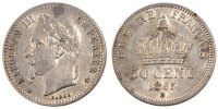 Semi Moderns (1805-1899) 50 Centimes 1865 Strasbourg AU+ French Moderns ... 180,00 EUR