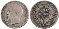 Semi Moderns (1805-1899) 50 Centimes 1856 Paris s French Moderns Frankre... 300,00 EUR