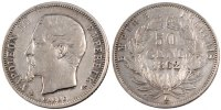Semi Moderns (1805-1899) 50 Centimes 1862 Paris VF+ French Moderns Frank... 140,00 EUR