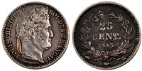 Semi Moderns (1805-1899) 25 Centimes 1845 Rouen VF French Moderns Frankr... 55,00 EUR