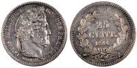 Semi Moderns (1805-1899) 25 Centimes 1846 Paris AU French Moderns Frankr... 110,00 EUR