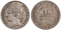 Semi Moderns (1805-1899) 50 Centimes 1871 Bordeaux VF French Moderns Fra... 100,00 EUR