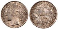 Franc 1887 A Frankreich Cérès MS(60-62)  140,00 EUR  zzgl. 10,00 EUR Versand